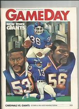 1983 NEW YORK GIANTS VS ST LOUIS CARDINALS NFL FOOTBALL PROGRAM
