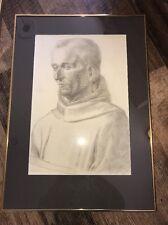 "Vintage Sister Jane Louise Circa 1925  ""monk""Framed Nice"