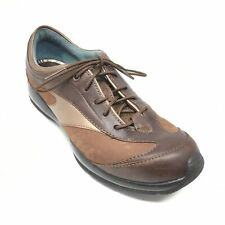 Women's Ariat Casual Walking Shoes Sneakers Size 6.5 B Brown Leather Lace Up AJ5