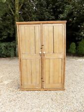 Beautiful Large Old Solid Pine Shelved Pantry School Linen Cupboard *We Deliver*
