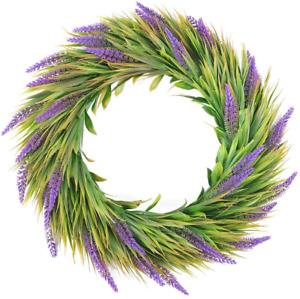 Artificial Lavender Flower Wreaths - Spring Summer For Front Door