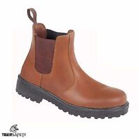 Himalayan 151T S1P SRC Tan Chelsea Dealer Steel Toe Cap Safety Boots Work Boot