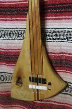 "Bass Fretless 4 String Maple Blade Wishbass Reg. Scale 34"" Soapbar. First One"