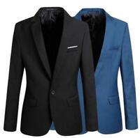 Herren Jacke Mantel V-Ausschnitt Sakko Business Party Anzugjacke GrS-6XL Smoking