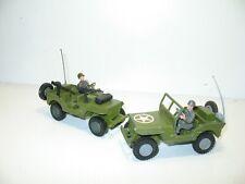 DINKY TOYS, 1 Soldat conducteur driver pour jeep militaire US 615 +casque, métal