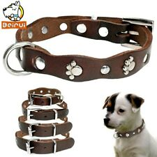 Genuine Leather Dog Collar  Size: Small