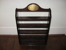 WOODEN GOLF BALL DISPLAY RACK - BOMBAY COMPANY! Holds 25 CHERRY MINT