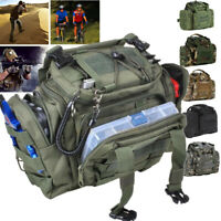 Fishing Tackle Bag Waist Shoulder Tactical Pack 900D Green Water Resistant