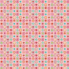Happy Flappers Circles Pink by Kelly Panacci  for Riley Blake, 1/2 yard fabric