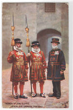 Yeoman the Guard State & Undress Uniform Tower of London UK 1908 Tuck postcard