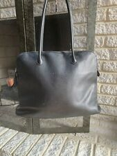 longchamp black leather handbag