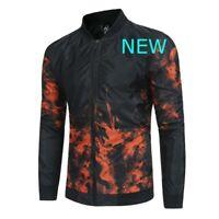 Tops Outwear Long Sleeve Casual Mens Black Zipper Slim Fit Baseball Jacket Coat