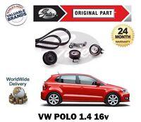 Pour VW Volkswagen Polo 1.4 16v 1.6 16v Gti 1996> Kit Courroie Distribution