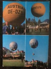 1964 Salzburg Austria First Day Balloon Fdc Postcard Cover To Vienna Pro Youth