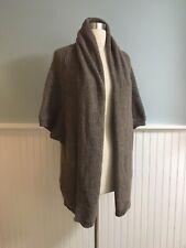 Size XL Ann Taylor Women's Beige Wool Blend Open Cardigan Sweater Tunic Length