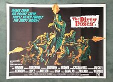 THE DIRTY DOZEN (1967) original UK quad movie poster - FIRST RELEASE
