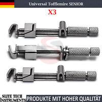 3 Stk Tofflemire SENIOR Matritzenspanner Matrix retainer Halter Dental Zahnarzt