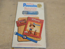 Disney Read Along Collection Pinocchio Book Tape Hologram Watch NOS