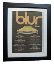 BLUR+UK TOUR+POSTER+AD+RARE+ORIGINAL+1997+FRAMED+FAST GLOBAL SHIP+SONG 2+MOR+2