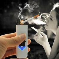 USB Electric Battery Rechargeable Flameless Lighter Windproof Random ,