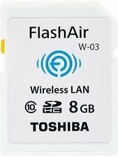 TOSHIBA wireless LAN-enabled FlashAir SDHC card 8GB Class10 made in Japan New