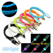 2.4A FAST Charging Color Gradient LED Light Micro USB Data Sync Charge Cable Lot
