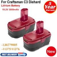 2 Pack For CRAFTSMAN 19.2 VOLT C3 LITHIUM DIEHARD XCP BATTERY PACK 315.PP2011