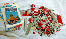 Over 6 Lbs. Of Assorted Vintage 1970s Fischer Technik Parts & Instruction Books