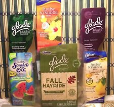 7 Glade Plugin Scented Oil * Nice Mix Of Scents Fall Hayride,Sugarplum And More