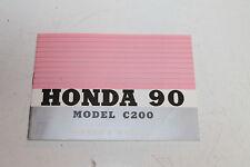 Genuine Honda Owners Manual 1963 1964 1965 1966 Honda 90 C200  AF-1249E