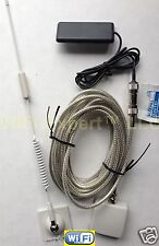 "White Quad Band Glass Mount 13"" 5dB Car Truck Cell Phone Antenna Signal Booster"