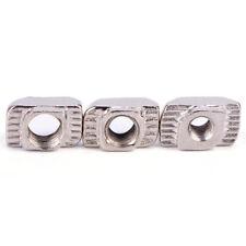 50PCS European T-slot Aluminum Carbon Steel Drop In T-Nut M3 M4 M5 Thread JB TS