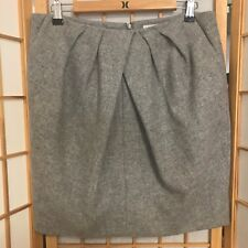 """COUNTRY ROAD""  SIZE ""12"" LADIES GREY WOOL MIX SKIRT~STYLISH ABOVE KNEE WARMTH!"