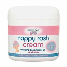 Nappy Rash Cream Zinc & Castor Oil Cream Lanolin Free Cotton Tree Baby-CT024