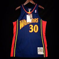 100% Authentic Stephen Curry Mitchell Ness Warriors Jersey Size 40 M Mens
