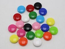 100 Mixed Bubblegum Color Acrylic Coin Disc Flat Round Beads 14mm