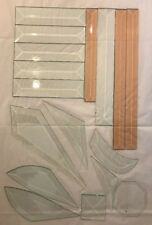 Mixed Lot of 17 Beveled Stained Glass Supplies Clear Peach Glue Chip
