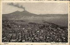 Napoli Neapel  Italien s/w AK ~1920/30 Panorama da S. Martino Totale mit Vesuv