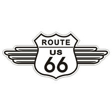 Sticker plastifié ROUTE Road 66 mod.2 - USA Harley Davidson - 11cm x 5cm