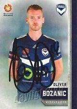 ✺Signed✺ 2015 2016 MELBOURNE VICTORY A-League Card OLIVER BOZANIC