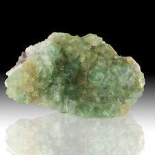 """4.1"""" SeeThru CokeBottle Green GEM FLUORITE Sharp Cubic Crystals Namibia for sale"""