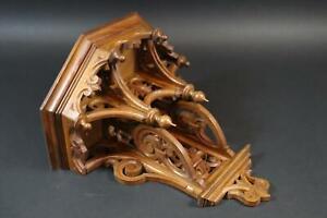 Neugotische Konsole Holz geschnitzt um 1880/90   (CP178)