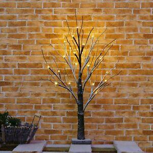 2ft Snowy LED Christmas Birch Tree Twig Tree Light Warm White Indoor Decoration