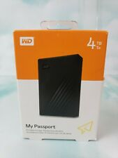 🔥WD My Passport 4TB External Hard Drive (Black) WDBPKJ0040BBK-WESN🔥