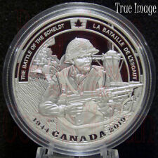 1944-2019 WWII Battlefront #8 Battle of the Scheldt $20 Pure Silver Coin Canada