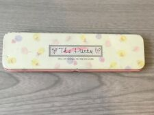 Used Tin 1980's Cute Kawaii Korea Slim Pencil Pen Case School Stationary Collect
