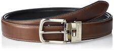 "AUTHENTIC  TOMMY HILFIGER Mens Brown / Black REVERSIBLE Belt SIZE 32"" waist"