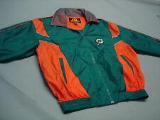 Silk..MIAMI DOLPHINS Football.Windbreaker Jacket Unique Sports Generation LG  !