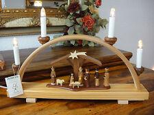 Schwibbogen Christi Geburt ZEIDLER Lichterbogen Erzgebirge Holzkunst Handarbeit