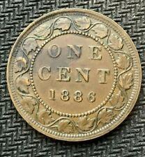 1886 Canada Large Cent Coin AU    World Coin ( Mintage 1.5 Million )    #C903